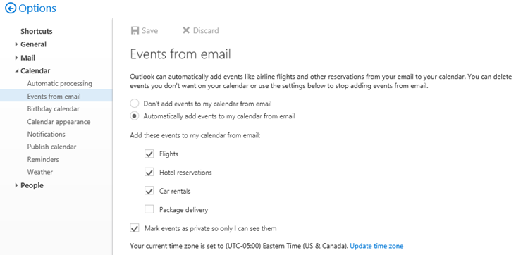 Events from Email in Office 365 and how to disable them | Blog