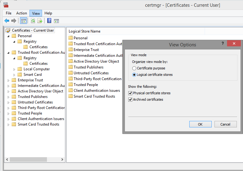 Windows certificate stores | Blog